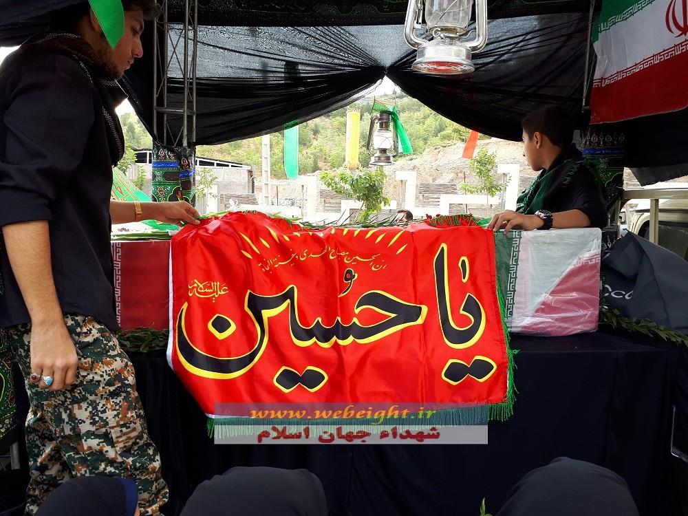 تصویر از پیکر شهید مدافع حرم محمد اسدی در پارک خورشید مشهد به خاک سپرده شد + تصاویر