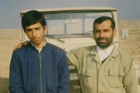 تصویر از پدری که در شهادت از پسرش پیشی گرفت